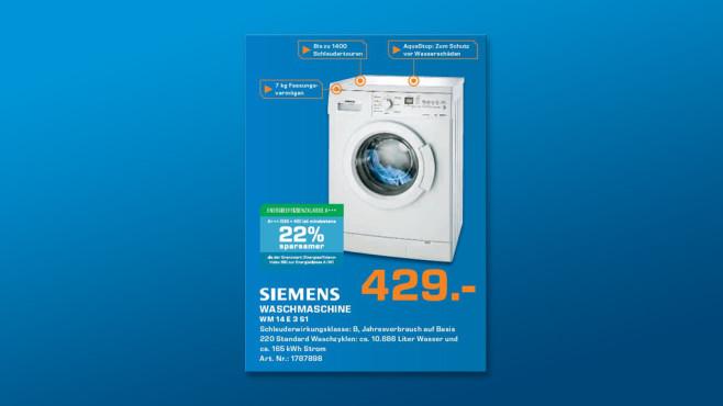 Siemens WM14E3S1 ©Saturn