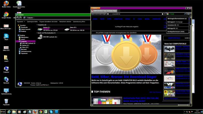 Windows 7 und 8: So nutzen Sie Ihren PC auch bei Sonnenschein Kaum bekannt: Windows bringt einen Kontrastmodus mit, der die Arbeit bei Sonnenschein deutlich verbessert. ©COMPUTER BILD