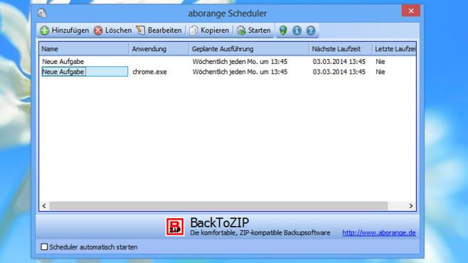 Aborange Scheduler: Programmstarts planen ©COMPUTER BILD