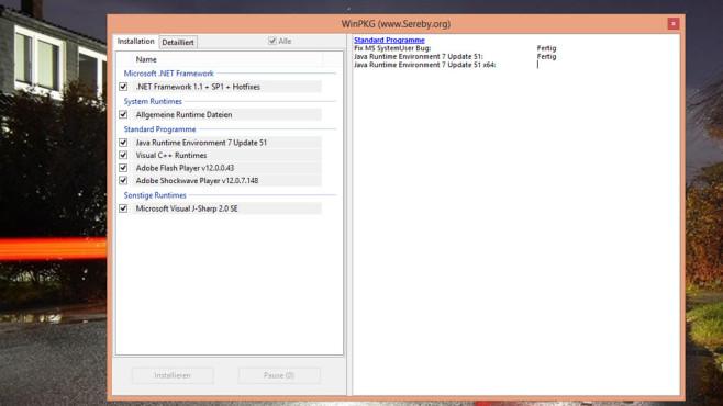 All in One Runtimes: Laufzeitumgebungen gebündelt installieren ©COMPUTER BILD