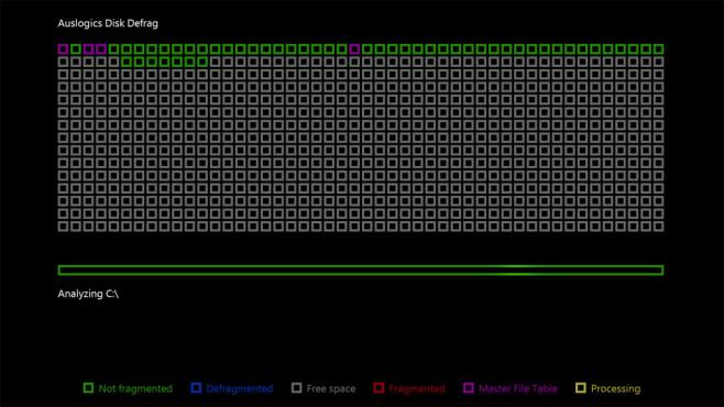 Auslogics Disk Defrag Screensaver: In Arbeitspausen defragmentieren ©COMPUTER BILD