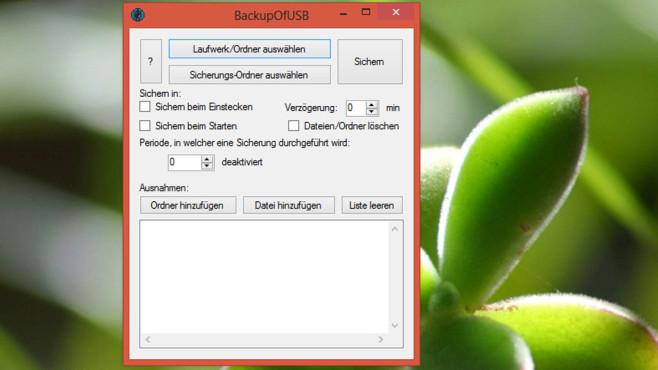 BackupOfUSB: Daten auf USB-Sticks sichern ©COMPUTER BILD