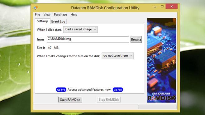 Dataram RAM-Disk: Datenmüll beim Herunterfahren beseitigen ©COMPUTER BILD