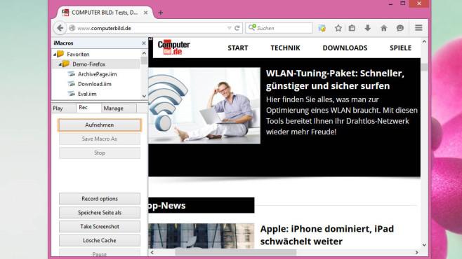 iMacros: Browser-Aktionen aufzeichnen ©COMPUTER BILD