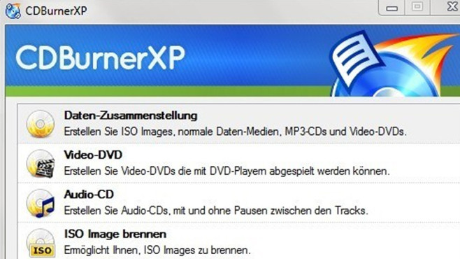 Alternative: CDBurnerXP © COMPUTER BILD