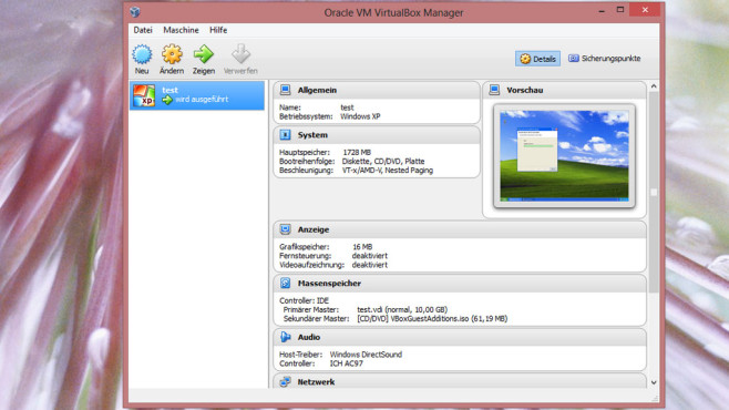 Alternative: VirtualBox © COMPUTER BILD