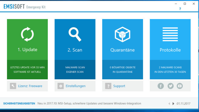 Alternativen: Emsisoft Emergency Kit, Malwarebytes Anti-Malware © COMPUTER BILD