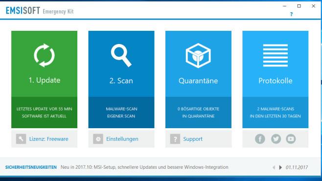 Alternativen: Emsisoft Emergency Kit, Malwarebytes Anti-Malware ©COMPUTER BILD