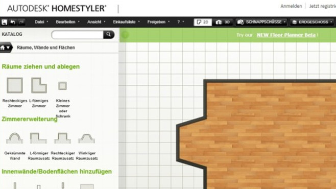 Autodesk Homestyler: Eigenes Zuhause planen ©COMPUTER BILD