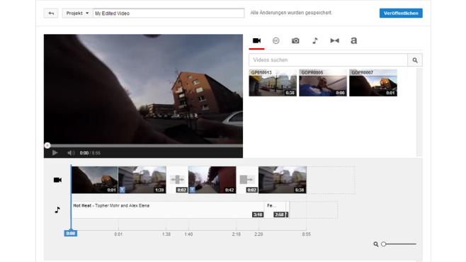 Die Schnittfuktion von Youtube ©COMPUTER BILD