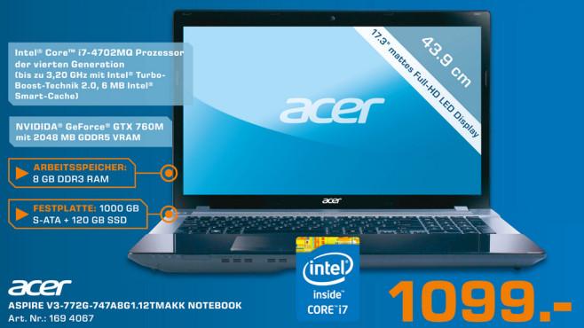 Acer Aspire V3-772G-747a8G1.12TMakk ©Saturn