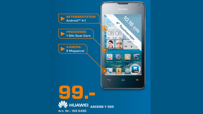 Huawei Ascend Y300 ©Saturn