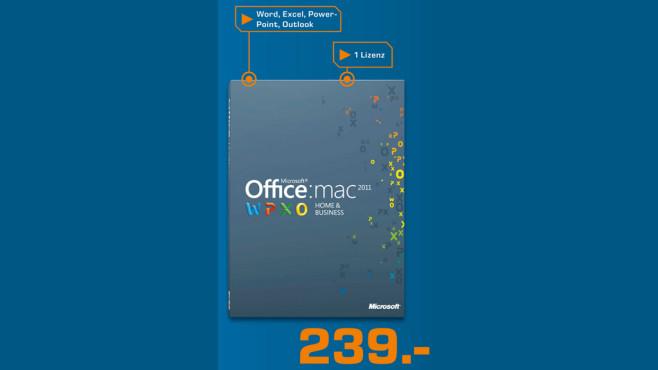 Microsoft Office 2011 Home and Business (DE) (Mac) (PKC) (1 User) ©Saturn