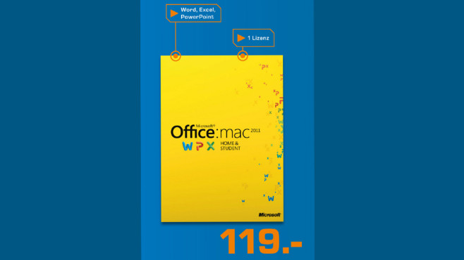 Microsoft Office 2011 Home and Student (DE) (Mac) (PKC) ©Saturn