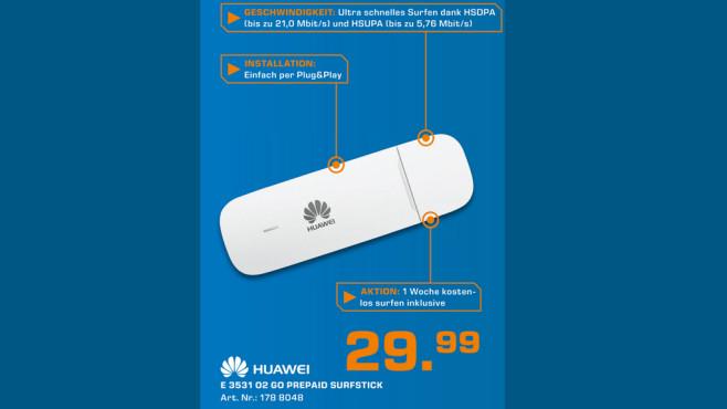 O2 go Prepaid Surfstick (Huawei E3531) ©Saturn