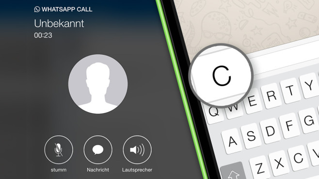 how to call on whatsapp iphone