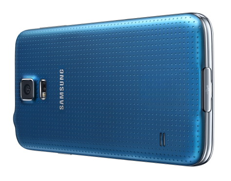 Samsung Galaxy S5 in Metallic-Blau © Samsung