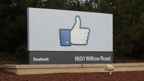 Willkommensschild beim Facebook-Hauptquartier ©Facebook