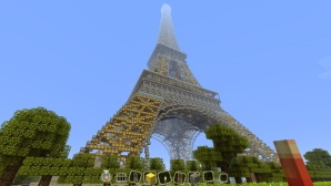 Minecraft: Eiffelturm©Mojang