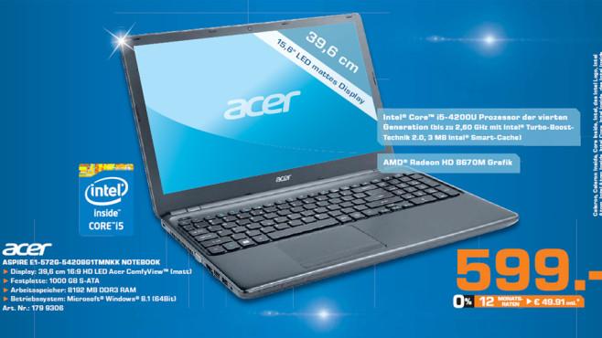 Acer Aspire E1-572G-54208G1TMnkk ©Saturn