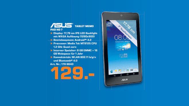 Asus MeMO Pad HD 7 8GB © Saturn