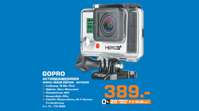 GoPro Hero 3+ Black Edition © Saturn