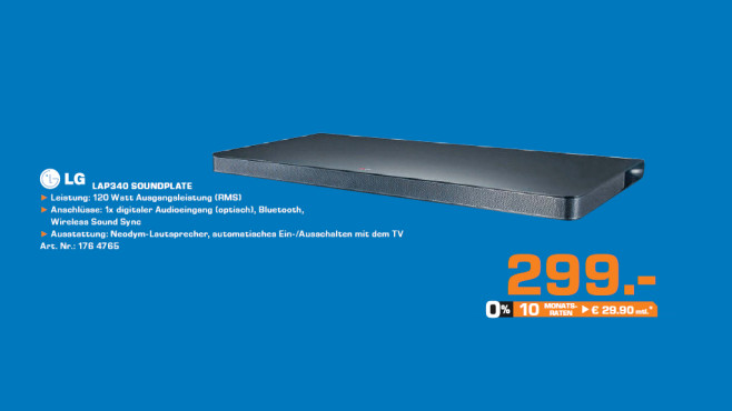 LG LAP340 Soundplate ©Saturn