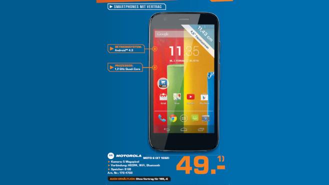 Motorola Moto G (XT 1032) ©Saturn
