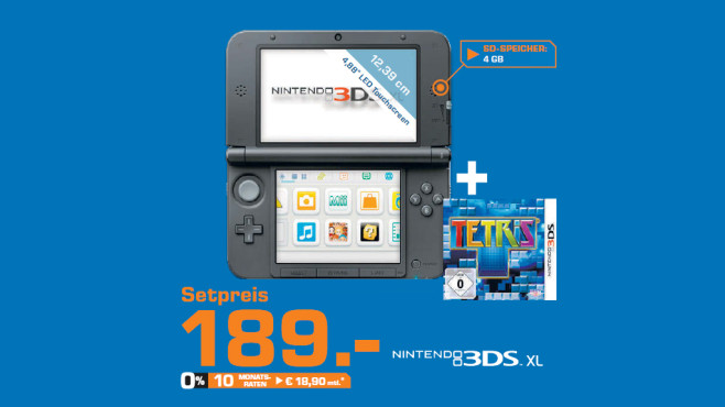 Nintendo 3DS XL im Set © Saturn