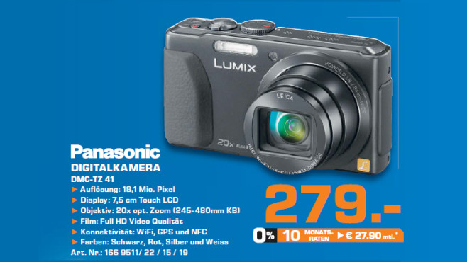 Panasonic DMC-TZ41 © Saturn