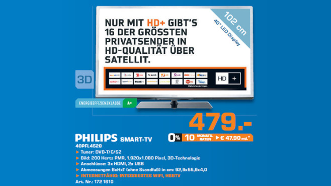 Philips 40PFL4528 © Saturn