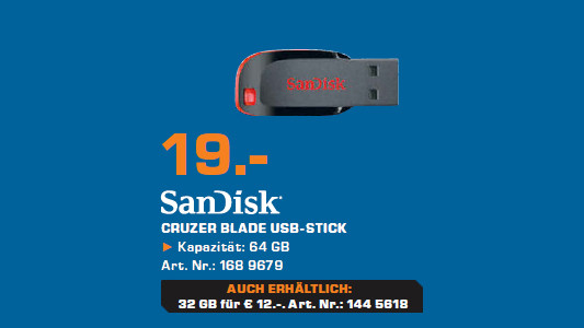 SanDisk Cruzer Blade 64GB ©Saturn