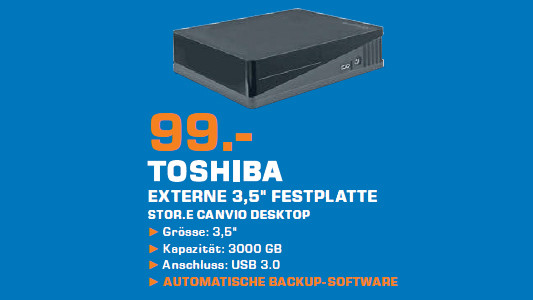 Toshiba Stor.e Canvio Desktop 3TB schwarz ©Saturn