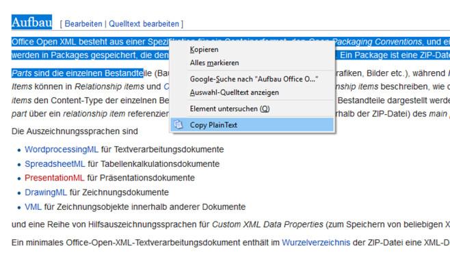 Copy PlainText: Text ohne Formatierungen kopieren ©COMPUTER BILD