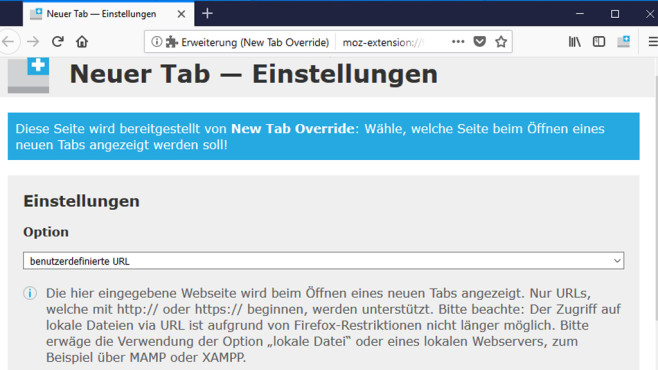 New Tab Override: Neue Tabs mit Seiten öffnen ©COMPUTER BILD