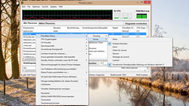 Process Lasso: Prozessor besser auslasten ©COMPUTER BILD
