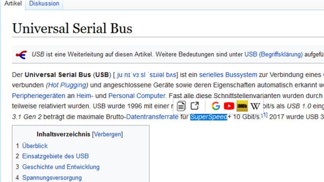 Swift Selection Search: Suchen mit mehreren Diensten ©COMPUTER BILD