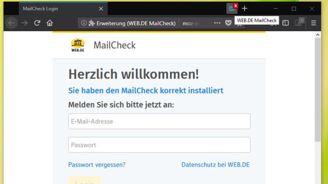 Web.de MailCheck: Neue E-Mails überblicken ©COMPUTER BILD