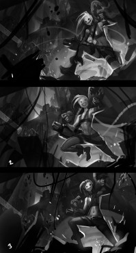 Jinx: Concepts for Splash Art © Riot Games