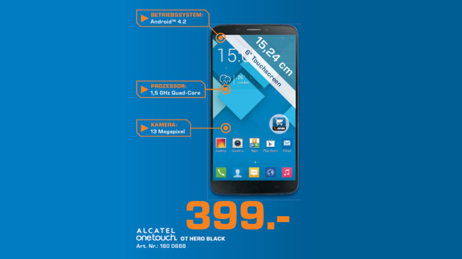Alcatel One Touch Hero 8020D © Saturn