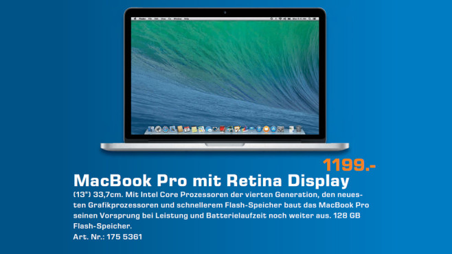 "Apple MacBook Pro 13"" Retina (ME864D/A) © Saturn"