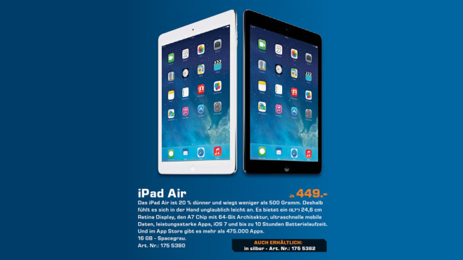 Apple iPad Air © Saturn