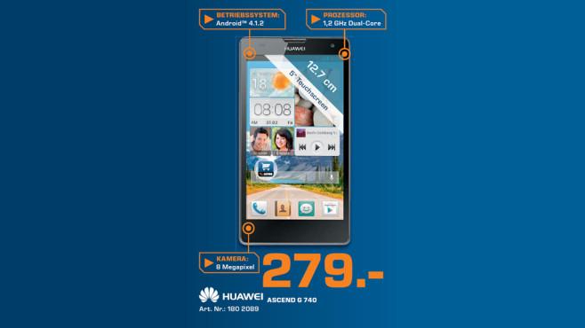 Huawei Ascend G740 ©Saturn