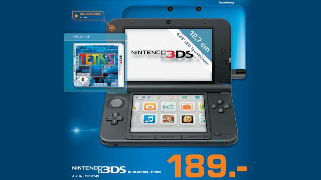 Nintendo 3DS XL mit Tetris ©Saturn