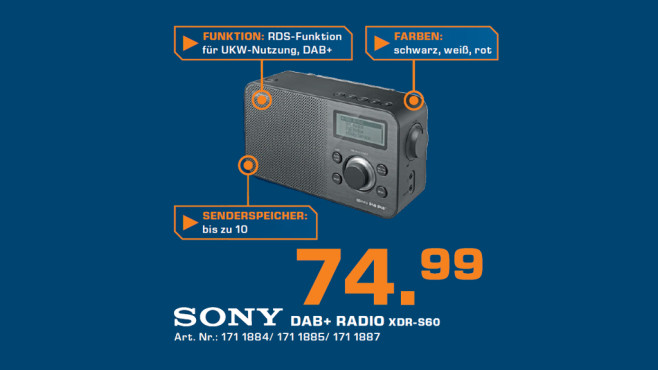 Sony XDR-S60 © Saturn