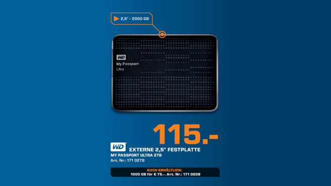 Western Digital My Passport Ultra 2TB © Saturn
