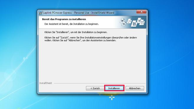 PCmover Express: Daten zwischen zwei PCs �bertragen ©COMPUTER BILD