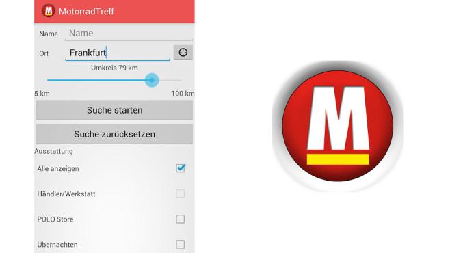 Motrorrad Treffpunkte App ©Syburger Verlag GmbH