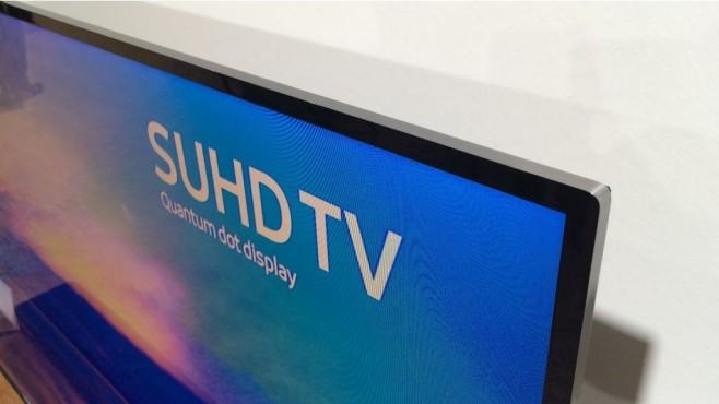 Samsung-Fernseher: So finden Sie das richtige Modell! Samsung wirbt bei seinen SUHD-Modellen auch mit dem �Boundless Design�, also mit dem extrem schmalen Rahmen. Sehr schick. ©COMPUTER BILD