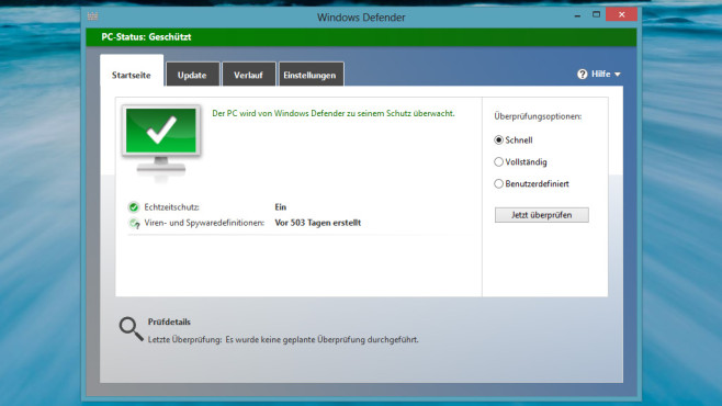 Windows 7/8: Programm gegen Schädlinge ab Werk dabei ©COMPUTER BILD